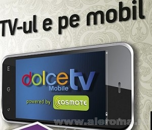 Imagini Televiziune pe mobil Dolce Mobile TV powered by COSMOTE
