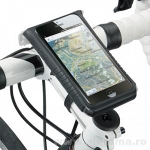Imagini Suport smartphone pentru bicicleta - special pentru touchscreen, cu protectie antisoc si impotriva ploii