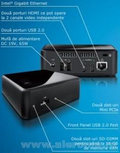 Imagini mini PC-ul Next Unit of Computing - NUC, este un dispozitiv de mici dimensiuni
