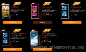 Imagini Ofertele Orange pentru cele mai noi telefoane - preturi pentru abonament nou