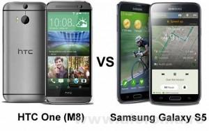 Imagini Comparatie intre Samsung Galaxy S5 si HTC One (M8) - Piele si Otel